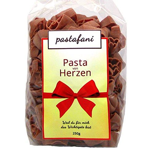 Herzen 250g - Leckere Natur-Nudeln für Feinschmecker mit aromatischem Geschmack. Natur-Pasta mit ausschließlich natürlichen, qualitativ hochwertigen Zutaten ohne Aroma- oder Zusatzstoffe, Teigwaren mit Ei, vegetarisch, Versandkostenfrei ab 15 Euro! (Spaß-halloween-kochen Ideen)