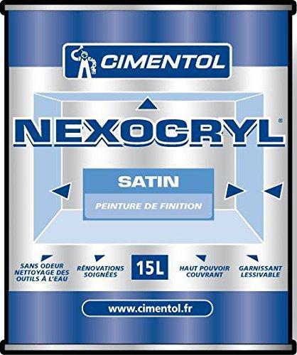 NEXOCRYL SATIN BLANC satin acrylique int/ext FUTS 100L blanc