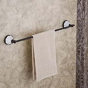 Antique Schwarz klassische elegante Handtuchhalter