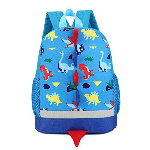 AnKoee Zaino per bambini, zaino per bambini dinosauri, Sacchetto di scuola per bambini (Blu)