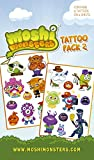 "GB Eye ""Moshi Monsters, Characters"" Tattoo Pack, Multi-Colour"