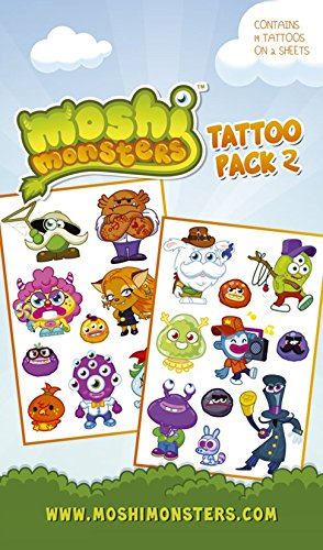 Gb eye, moshi monsters, personaggi tattoo pack