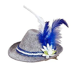 WIDMANN?Mini Sombrero de Fieltro con Plumas y Acero Blanco