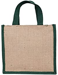 Litercay India Indha Jute Lunch Bag/Unisex Lunch Bag/Jute Bag/Handmade Bag/Eco-Friendly Natural Jute Lunch Bag...