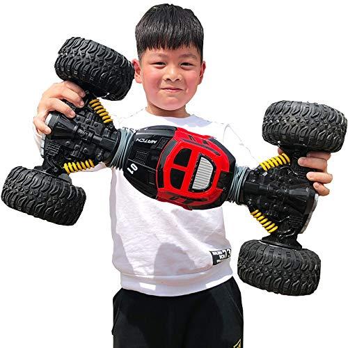 Poooc 2,4 GHz 360 ° Rotierenden Spielzeug für Kinder Monster Jungen Mädchen Geburtstag Spielzeug geschenk Buggy Lkw Reifen Stoßdämpfer Leistungsstarke Batterie Ein Schlüssel Verformung Auto Salto Fahr - Monster-lkw-spielzeug Mädchen,