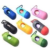 Wickeltasche Dispenser mit 12 Stück tragbaren Einweg abnehmbare hängenden Mülltüten Farben können variieren