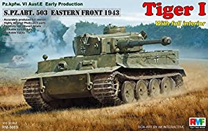 Rye Field Model RM de 5003 - Maqueta de Tiger I Early Production con Full Interior