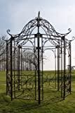 Garten-Pavillon im Versailles-Stil, aus Metall, in antiker Bronzeausführung