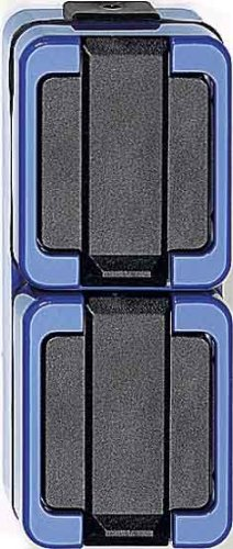 Price comparison product image Merten 229286SCHUKO double socket, Vertical, Blue, impact-resistant