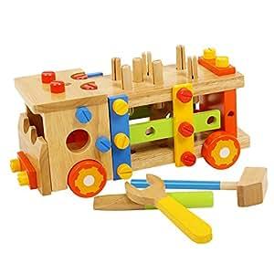 Dopobo Jeu de construction ,jeu de démontage vis écrou en avion ,robot ,chaise ou l'autre forme pour bébé