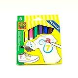 Tessuti werning Tessile Pastelli SES Creative malstifte 8colori