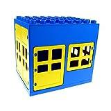 1 x Lego Duplo Gebäude Tankstelle blau gelb 6x8x6 gross Haus Puppenhaus Fenster Tür doppel Tor 2206 2205 2209 2210