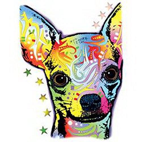 Pop Art Style Tank Top Neon Chihuahua Shirt 4 Heroes Beach Tanktop Herren Geburtstag Geschenk geil bedruckt Weiß
