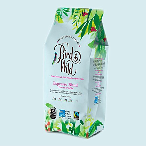 Bird & Wild Signature Espresso Blend, Fairtrade Organic Shade Grown Bird Friendly Coffee, Ground Coffee, 200g net weight 51BK9 2BLcSqL