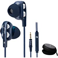 pTron Boom3 Ultima 4D Dual Driver in-Ear Wired Headphones with Mic - (Dark Blue)