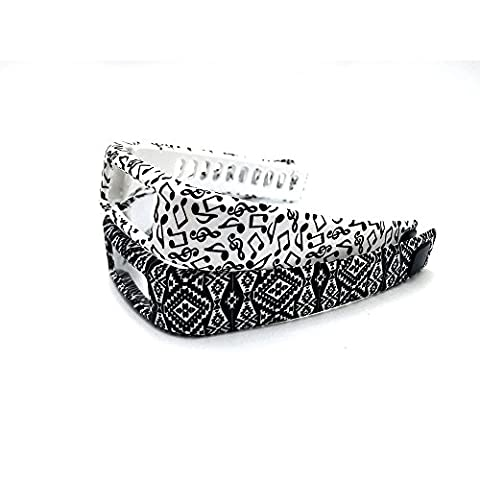 fit-power Multicolore Bracelets de rechange pour Garmin vivofit avec fermoirs–Fitness Tracker Bracelets, Pack of 2d, grand