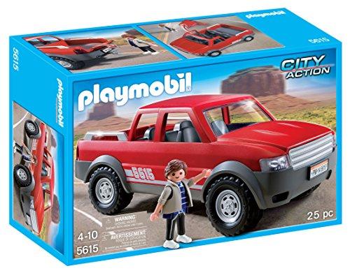 Playmobil Juego–5615–City Action –Camioneta pickup con doble cabina.