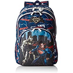 Batman & Superman Heroes ST/AC Mochila, Color Azul