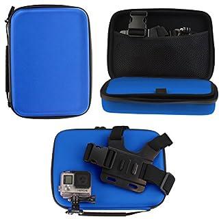 Navitech Blau Wasserdicht stoßfest Fall für die ACCFLY H9R Ultra 2.0 inch 170 Degree 12MP Waterproof Wifi Sport Camera