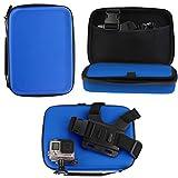 Navitech Blau Wasserdicht stoßfest Fall für die BOROFONE Action Camera Waterproof 4K WI-Fi 1080P 12MP
