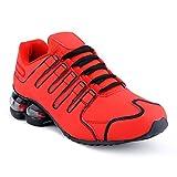 Herren Damen Sneaker Sportschuhe Lauf Freizeit Neon Runners Fitness Low Unisex Schuhe Rot-W EU 37