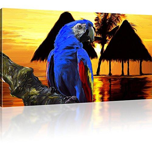 Papagei Ara Bilder auf Leinwand Tiere Wandbild Vogel Kunstdruck