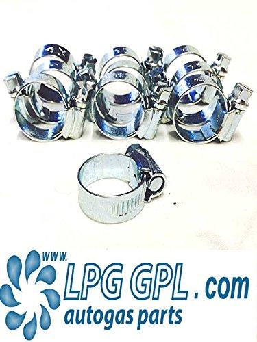 Preisvergleich Produktbild LPG / GPL autogas,  SCHLAUCH ROHR Schlauchschellen 13-20 mm,  10 Stück,  Extra breit