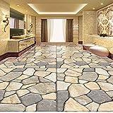 Rureng Großes Kundenspezifisches Tapeten-Wandbild Hd 3D Marmorfliesen-Parkett-Teppich-Dickere Wohnzimmer-Fototapete-350X250Cm