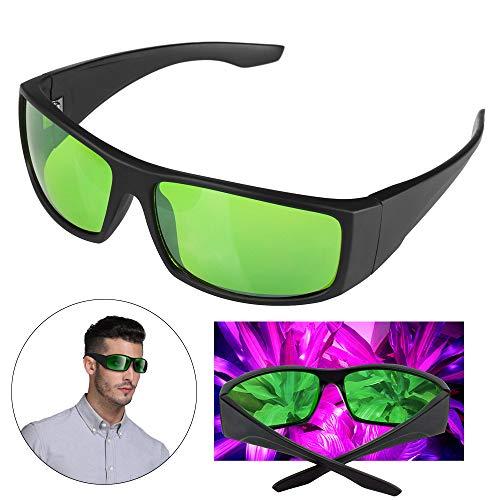 Xingruyu Grow Room LED Light Brille, Gläser Gegen UV, IR, Strahlen Schutzbrille Augengläser für Indoor Gardens Gewächshäuser Hydroponics