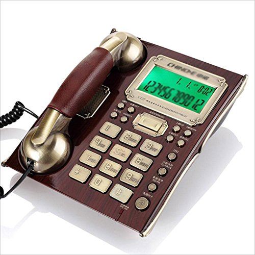 XYLS Telefon Anrufer ID Mode Festnetz Schnurgebundenes Telefon Schreibtisch Telefon An der Wand befestigtes Europäisches Retro Haus Verdrahtet Fest Geschäftsbüro Freistehendes antikes Telefon Kreativ (21.4 * 17.6cm) Festnetztelefone -