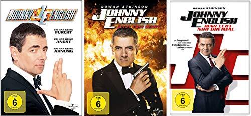 Johnny English Set: 1 + 2 - Jetzt erst recht + 3 - man lebt nur dreimal - Deutsche Originalware [3 DVDs]