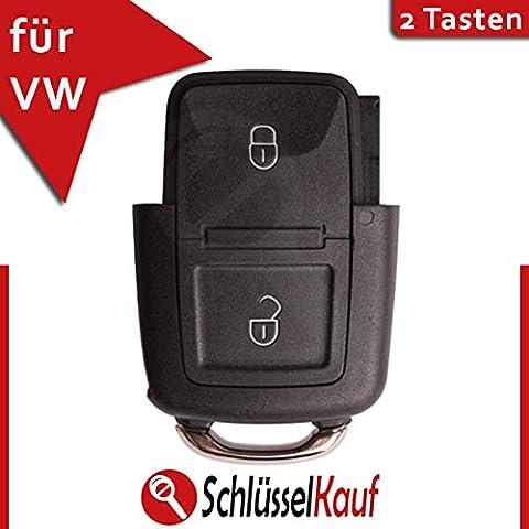 NEU - VW Schlüsselgehäuse Gehäuse Schlüssel Fernbedienung Golf 4 IV + Golf Plus + Bora - 2 Tasten