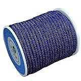 DIY925 Nylonband geflochten 16.5m Kordel 3mm blau königsblau Premium Qualität für die Schmuckherstellung