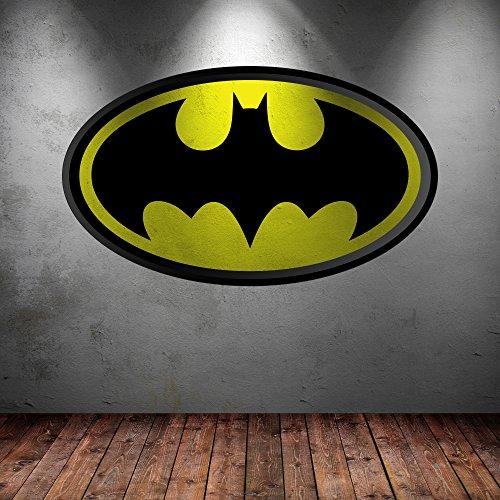 Volle Farbe Vinyl Wandkunstaufkleber Batman-logo Superheld Kinderzimmer Wandgemälde Aufkleber Grafik Transferdruck