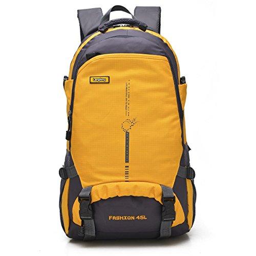 XY-QXZB Uomini Lady Large Outdoor Recreation portatile Zaino Alpinismo, Arrampicata Viaggiare Escursionismo Borsa Equitazione, Borsa a tracolla Multifunzione Affari Studenti Sport (6 colori, 58 x 35 x Orange