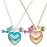 Best Claire's Friend Heart Necklace Golds - Claire's Girl's Best Friends Mermaid Scales Heart Pendant Review