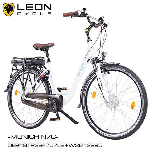 NCM-Munich-N7CElektrofahrrad-mit-RcktrittbremseDamen-Herren-E-Bike28-Zoll-Pedelec36V-250W13Ah-SAMSUNG-Zellen-Akkuweischwarz