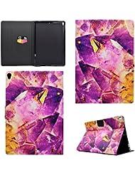 Coque iPad Pro 10.5, BONROY® Smart Case Coque pour iPad Pro 10.5 TPU Souple Bumper Fermeture Magnétique avec Function Veille Automatique Etui Housse Case Cover pour iPad Pro 10.5 - purple crystal