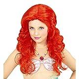 Lively Moments Perücke Meerjungfrau in rot für Kinder / Lockenperücke Mermaid / Kinder Kostüm Zubehör