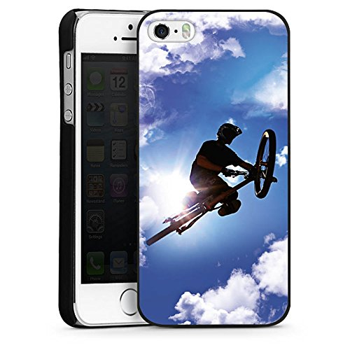 Apple iPhone 4 Housse Étui Silicone Coque Protection VTT Bicyclette Sport CasDur noir