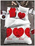 Oximus 5D Couple Print Bed sheet with 2 pillow covers couple print bedsheet couple print double bedsheets couple print bedsheets luxury bed sheets 5d print bedsheets for couple 3d print bedsheets for double bed latest design bedsheet