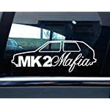 Turnerco - Pegatina para coche (VW Golf mk1, GTI, g60), diseño con texto Mk2 Mafia