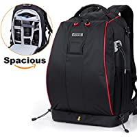 Lifewit SLR Camera Backpack Outdoor Water Resistant MultiPurpose Daypack with Tablet Compartment and Padded for Nikon Canon Sony (Black-2)