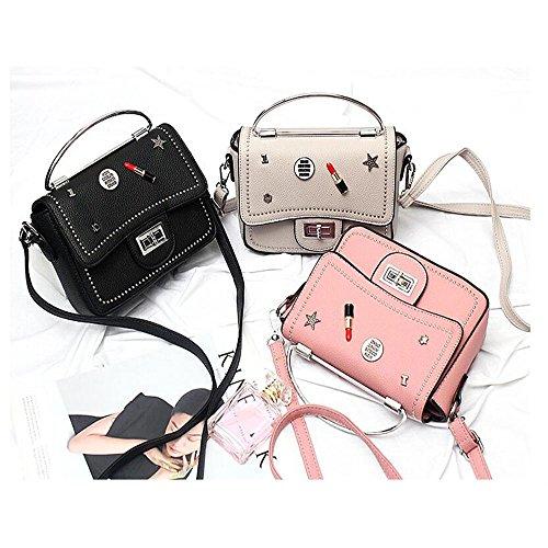 Toopot Borsa della borsa della borsa della borsa della borsa delle donne semplice borse della borsa della moda di modo borsa sveglie delle (ARMY GREEN) BEIGE