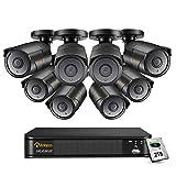 Anlapus 4K Sistema di Sorveglianza 8CH H.265+ Registratore DVR con 8 Videocamera Esterna 2TB Disco Rigido, 30M Visione Notturna, Allarme di Movimento
