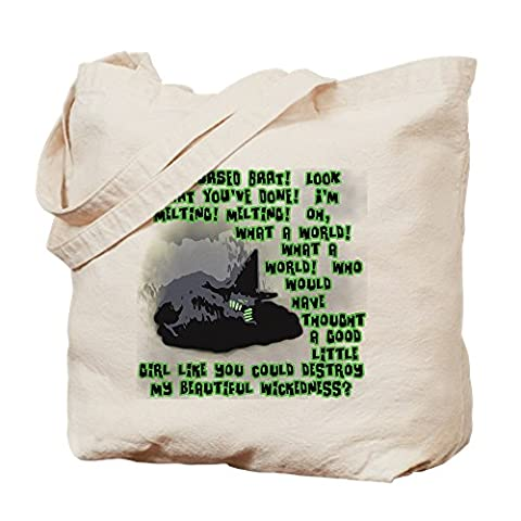 CafePress - I'm Melting..Wicked Witch - Natural Canvas Tote Bag, Cloth Shopping Bag