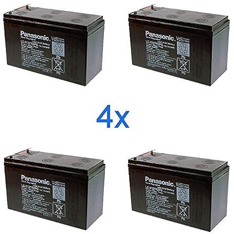 4x Original Panasonic Replacement Battery for USV APC 5000RMT5U 5000RMT5UXFMR 5000RMTXFMR 5000TXFMR DL1400RM RBC12RBC12J RBC23RBC24RBC24J RBC25RBC26RBC27RBC43RBC59RBC8UPS 1400RMNET UPS 2200RMU UPS 3000Smart-UPS 3000RMT3U SU1500RMX155SU2000R3X155SU2200R3X106SU2200RM3U SU24RMXLBP2U SU24XLBP SU3000R3X145SU3000RMT3U SU5000T Accu Bateria Battery Batteries