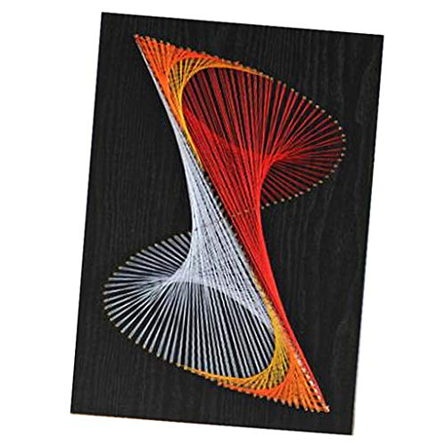 F Fityle String Art kit mit Tool Geometrische 8 Vorlage für Kinder und Starter Kunst Handwerk - Wohnkultur Dekoration / Geschenk