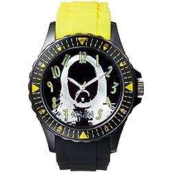 Steve Aoki Men's SA 2003 BKYW Analog Display Japanese Quartz Black Watch