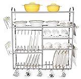 #7: Home Creations 30 x 32 inch Wall Mount Kitchen Dish Rack/Kitchen Utensils Rack/Modern Kitchen Storage Rack